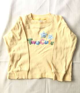 Charity Sale! Baby Yellow Baby Sweater Size Large 24 Months Baby Soft Cotton