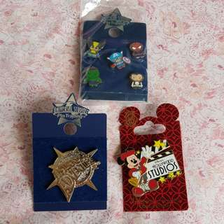 Disney and Universal Studios Pins