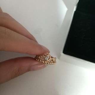 PANDORA- ROSE GOLD PRINCESS RING