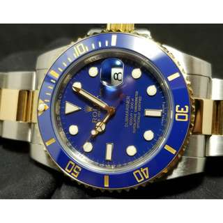 "二手 Rolex Two Tone Submariner ""SMURF"""