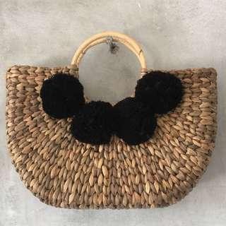 Balinese Handmade Rattan Arm Bag - Natural Brown
