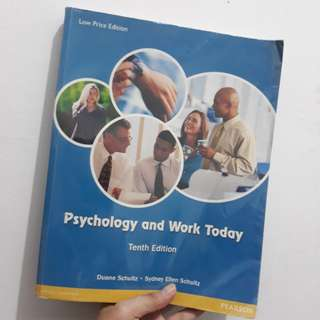 Psychology and Work Today by Schultz (IO book)