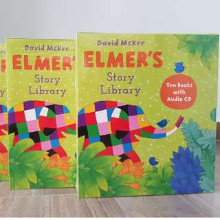 Elmer Library Books Set + CD  (Korean EGG)