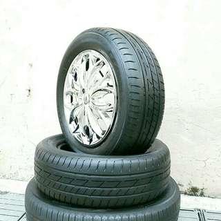 Used 195/60 R15 Bridgestone (2pcs) 🙋♂️
