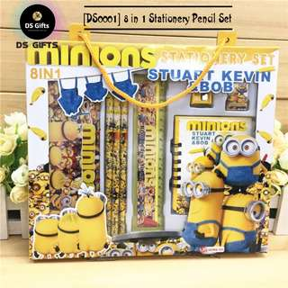 Minions - 8 in 1 Stationary Set