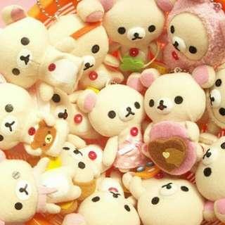 White Rilakkuma stuffed toy