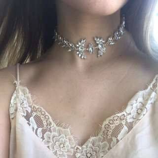 Rose gold diamond choker