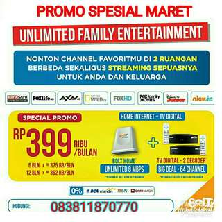 Promo Wifi + Tv kabel 2 stb
