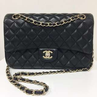 CHANEL Quilted Double Flap lambskin Bag