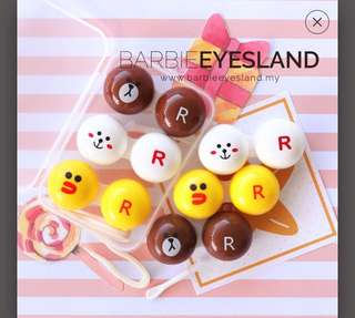 (INSTOCKS) LINE Contact Lense Case