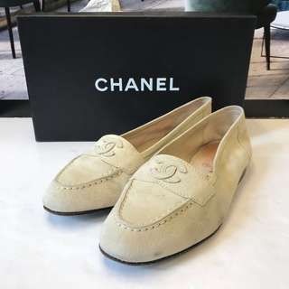 Chanel Seude Leather Loafer