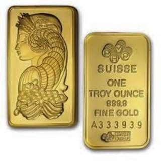 Gold bar pam swiss 999.9
