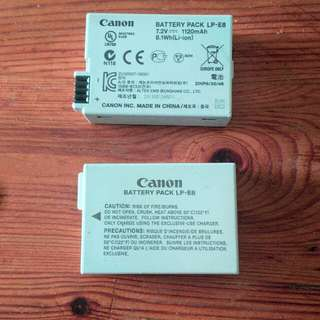 Used Canon LP~E8 Dslr Batteries