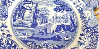 SPODE BLUE ABD WHITE Italian dinner plates