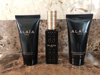 Alaia body lotion, shower gel and perfume