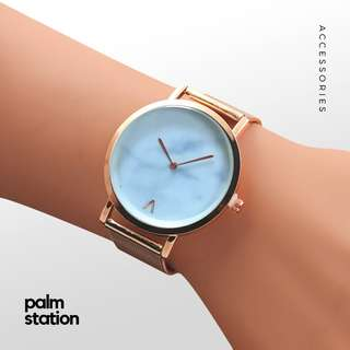 [FREE DELIVERY] Rose Gold with White Marble Watch [Pre-Order]