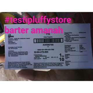 #testipluffystore barter amanah