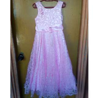 Pink Lacey Gown