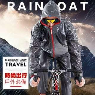 兩件式雨衣/輕薄防水/加厚款/贈衣褲專用收納袋