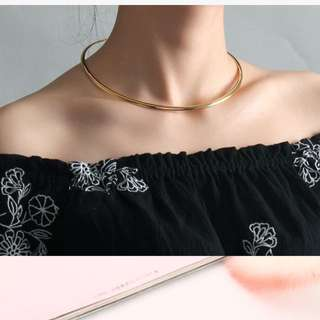 18K Gold Plated Choker