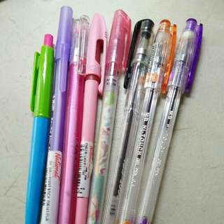 SALE! COLORED AND BLACK INK PENS GET ALL FOR 80 PESOS