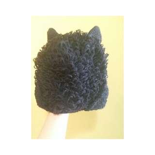 羊角針織帽