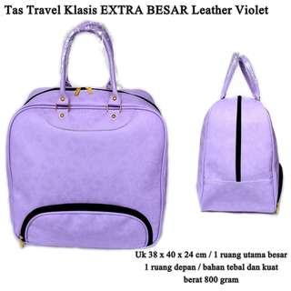 Tas Travel EXTRA BESAR Kulit klasik Best Produk violet
