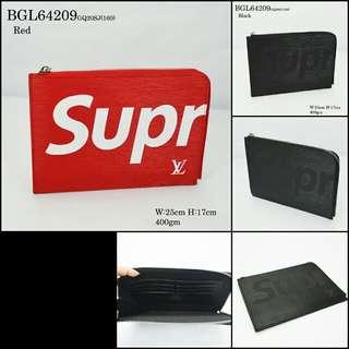Louis Vuitton X Supreme Clutch