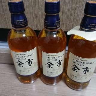 余市 無年份 500ml 日本 威士忌 日威