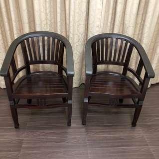 Teakwood armchair