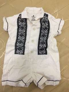 Baby Polo Romper Formal/ Christening/Baptismal
