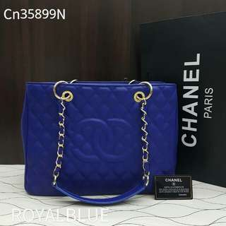 Chanel GST Caviar Electric Blue