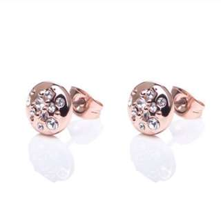 (NEW)Karen Millen Swarovski Crystal Sprinkle Stud Earrings
