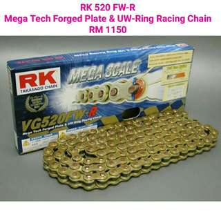 RK 520 FW-R Mega Tech Forged Plate & UW-Ring Racing Chain