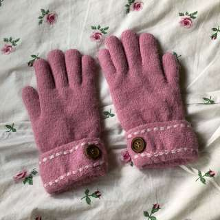 BN pink winter gloves
