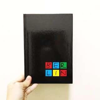 BNIP BERLIN A5 Hard Cover Black Basic Line Lined Notebook