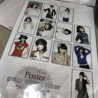少女時代 秀英 孝淵 一包十二張海報