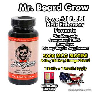 (Free mail) Mr Beard Grow (Hair Enhancer Formula)