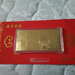 Brand new pure gold monkey card