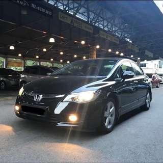 Honda Civic 1.8 For Rent $420 ( For Grab / Uber / Personal )