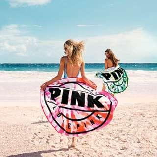 🚚 現貨✅美國正品代購 限量 2018 Victoria's Secret PINK 圓形海灘浴巾✨