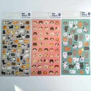 日本貓咪貼紙 包郵 貓頭 MW