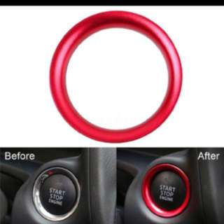 Red Push start/stop button ring