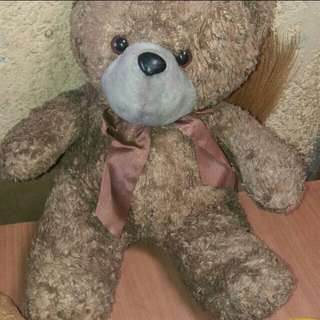 Preloved teddy bear with ribbon