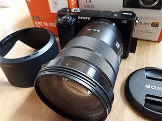 Sony A6000 & E PZ 18-105 Mirrorless Camera