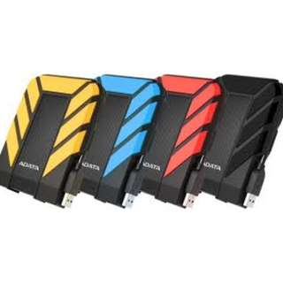 ADATA External hard drive HD710 Pro (IP68 Dust. Water. Shock Proof) 1TB/2TB BLACK/YELLOW/BLUE/RED