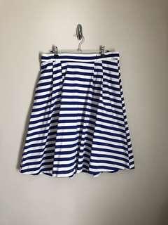 (L) ModCloth striped skirt