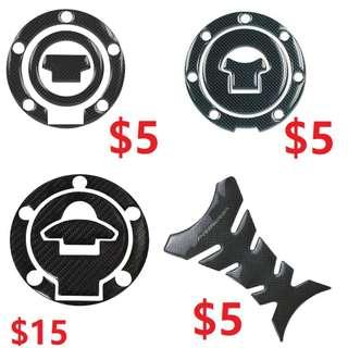 PROGRIP Gellish Carbon Fibre Tank Pad / Tank Bone Sticker / Honda / Yamaha Fuel Cap Sticker