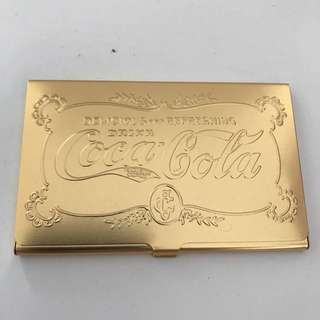 Coca Cola Limited Edition name card holder -  Gold