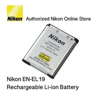 Original Li-ion Battery (EN-EL19) By Nikon